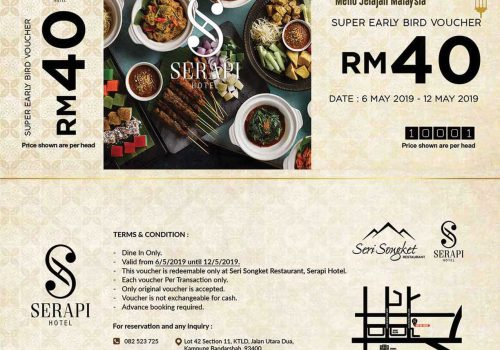 Super Early Voucher @ Serapi Hotel